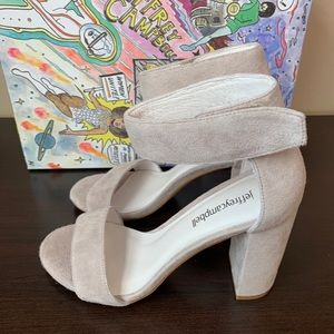 Jeffery Campbell Lindsay Taupe Ankle Heels